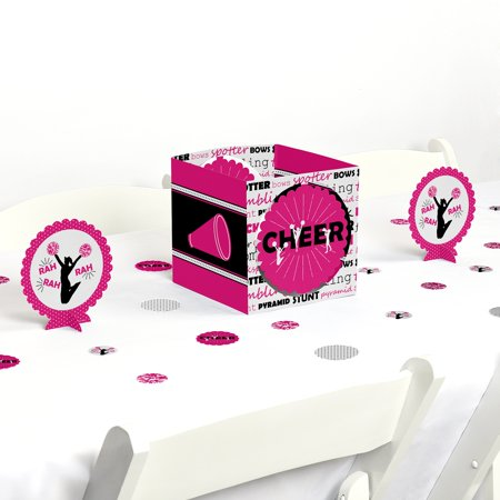 We've Got Spirit - Cheerleading - Birthday Party or Cheerleader Party Centerpiece & Table Decoration Kit (Pink And Black Table Centerpieces)