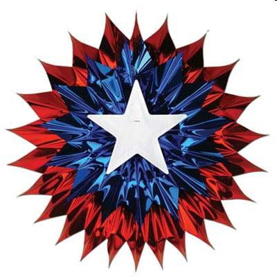 Patriotic Foil Starburst 15 inch Fan Party Decoration