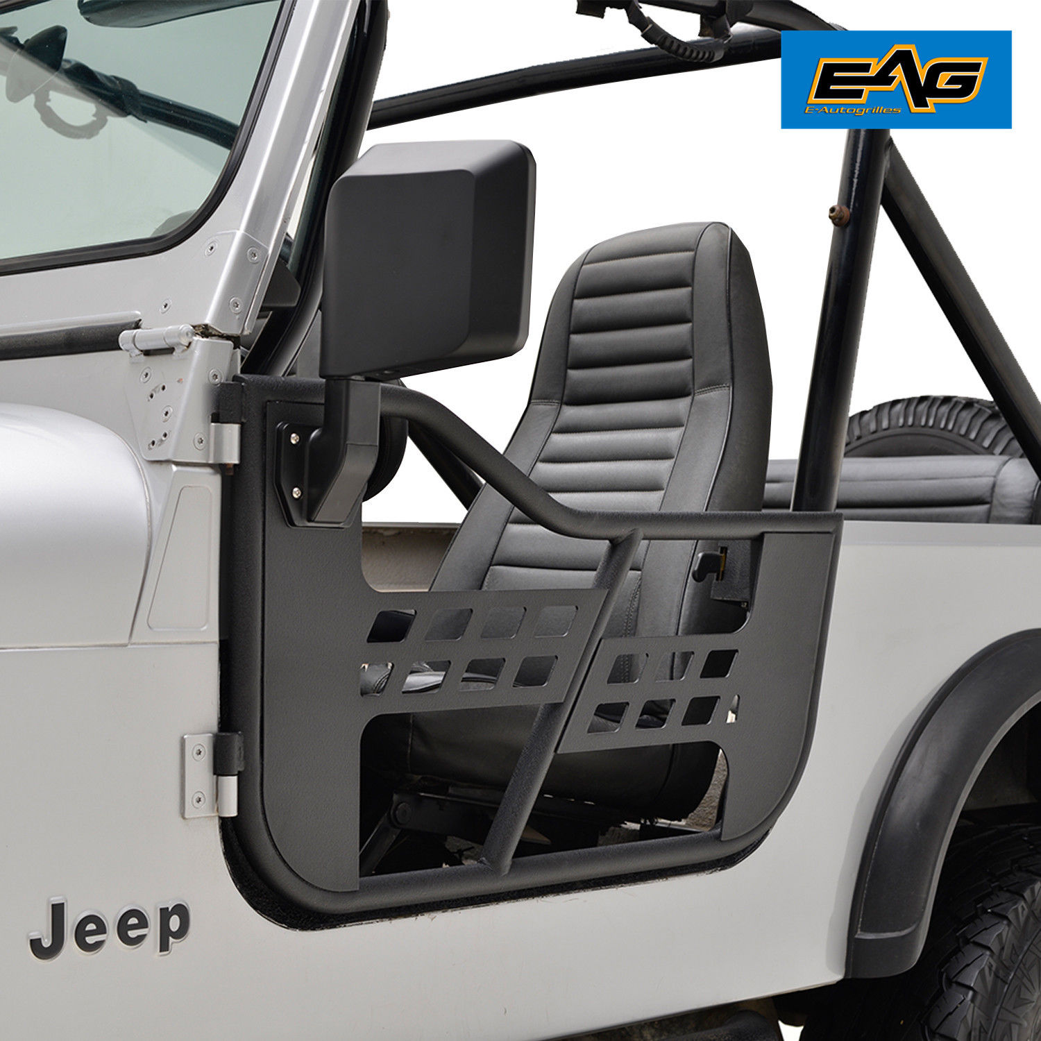 81-96 Jeep Wrangler CJ7//YJ Steel Tube 2 Door Replacement with Sideview Mirror