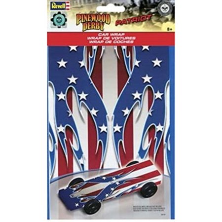 Patriots Car Sticker (Revell Pinewood Derby Patriot Car Wrap Decal RMXY9423)