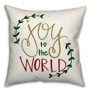 Joy to the World 18x18 Spun Poly Pillow Cover