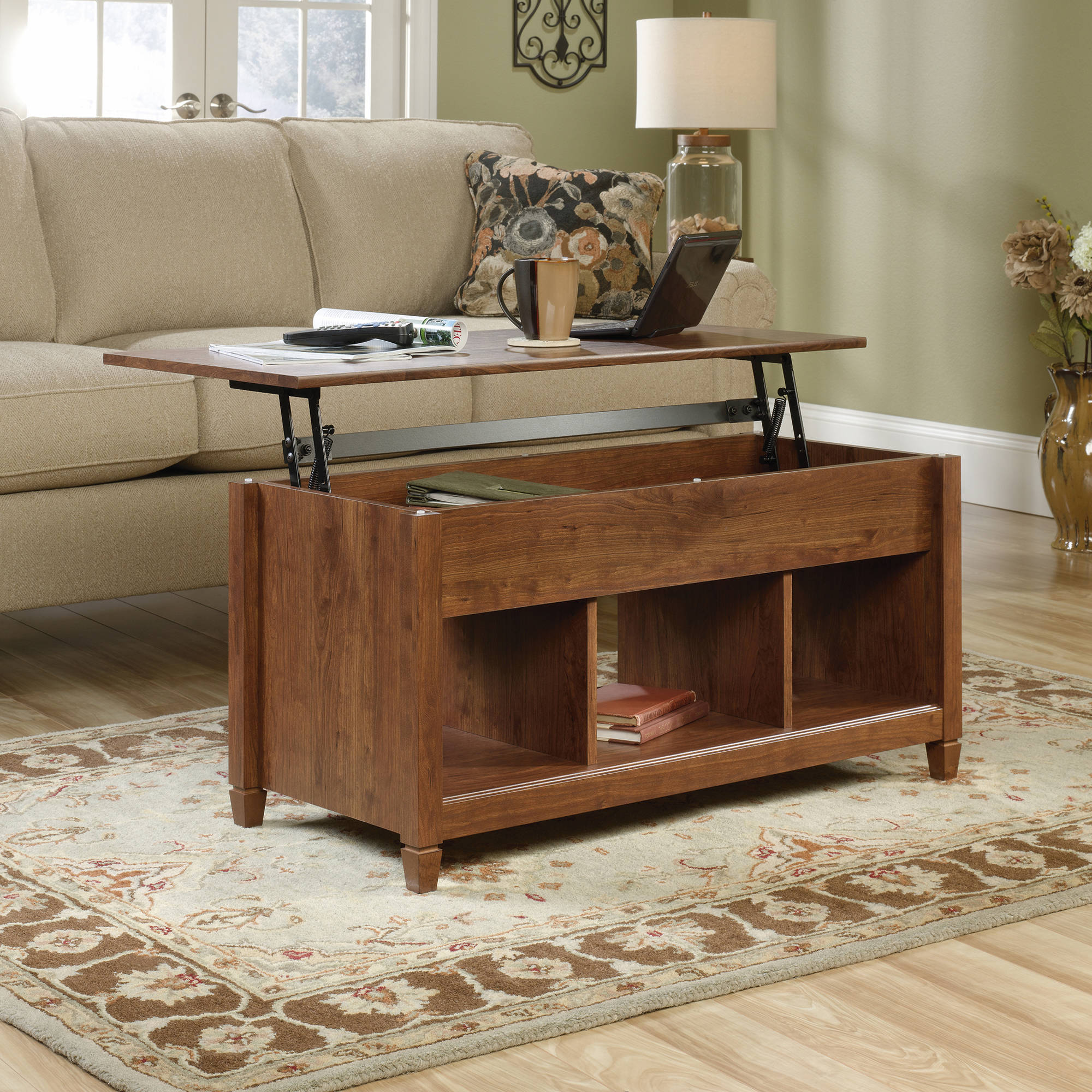 Sauder Edge Water Lift Top Coffee Table Multiple Finishes