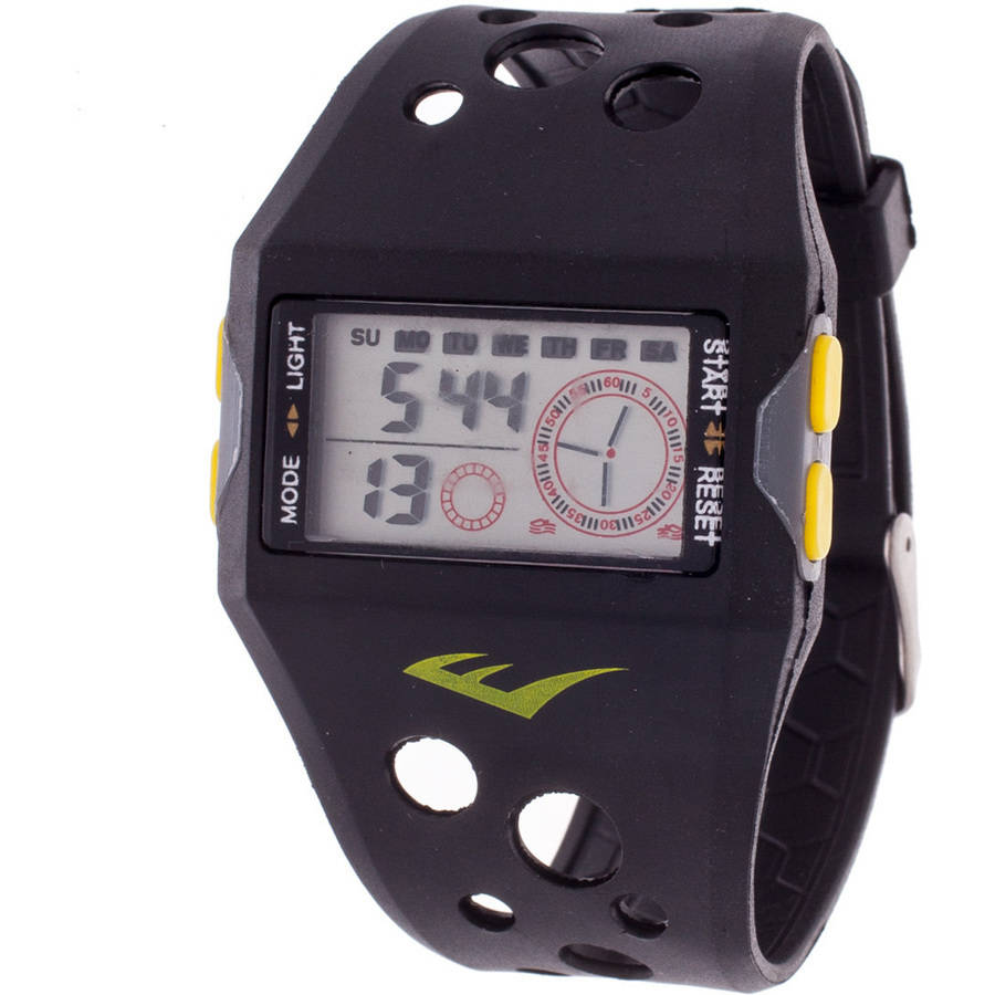 Everlast Digital Sports Watch, Black Silicone Strap
