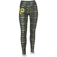 Women's Black/Gold Pittsburgh Pirates Space Dye Leggings