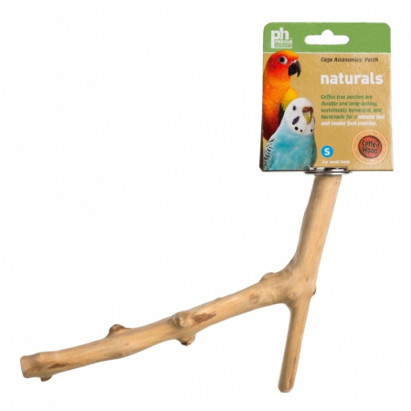 "Prevue Naturals Y Branch Perch Coffee Wood - 9""L x 1/2""-1""D - (Small Birds)"