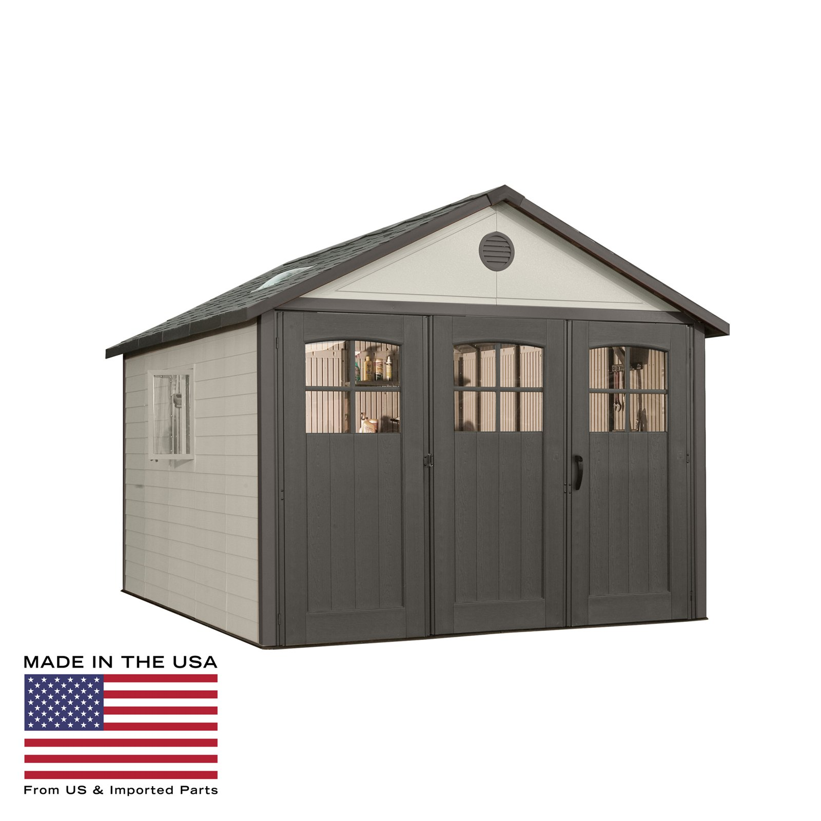 Lifetime 11 x 21 ft. Outdoor Storage Shed with Tri Fold Doors