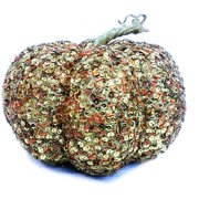 Gold Sequin Pumpkin Decoration
