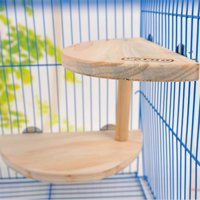 Pet Wooden Two Layers Wood Hamster Footplate Springboard Hamster Small Pets Pedal Toys