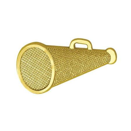 1.29 in. Chenille Megaphone Lapel Pin, Bright Gold - image 1 de 1