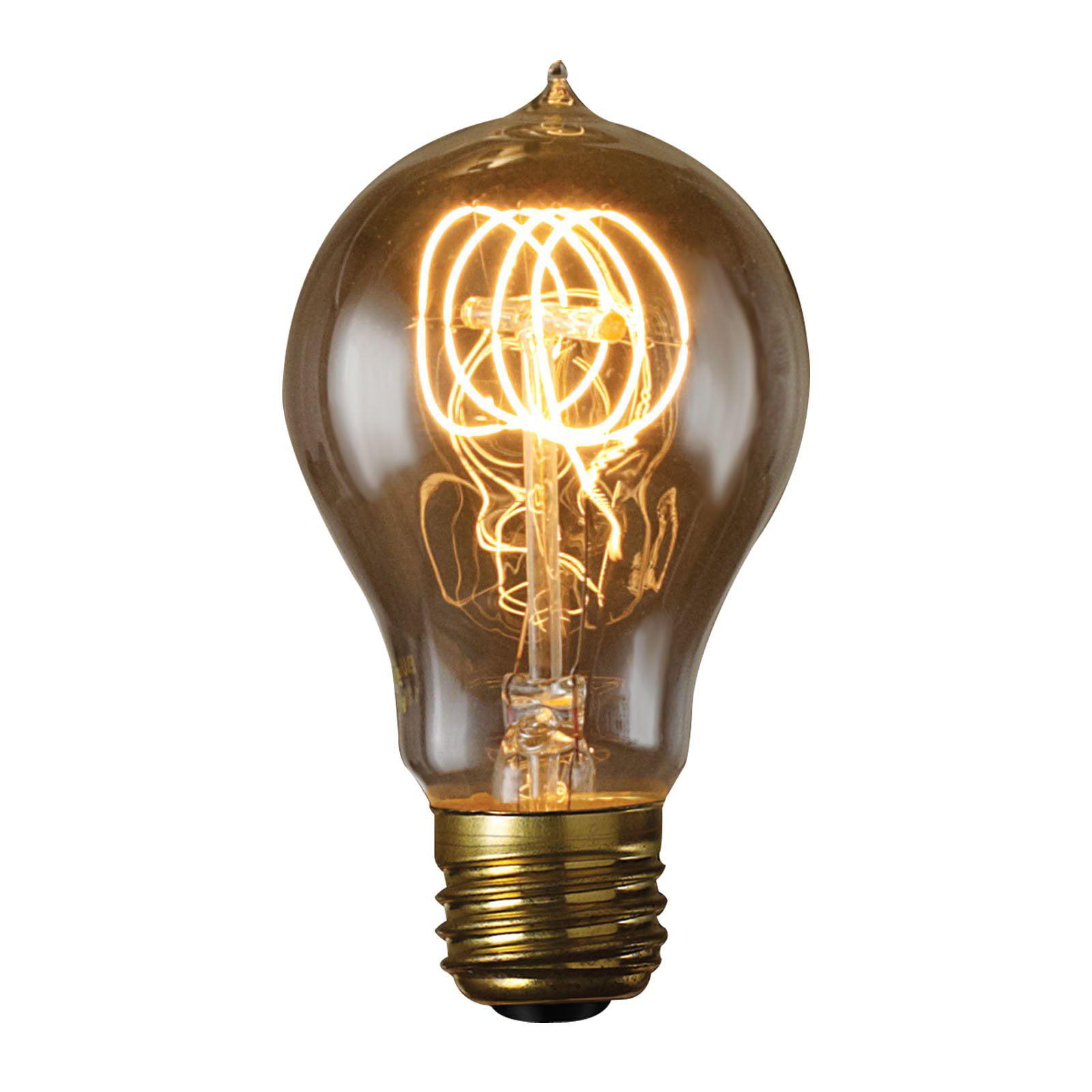 Bulbrite 60W Victorian Loop Filament A19 Incandescent Edison Light Bulb - 6 pk.