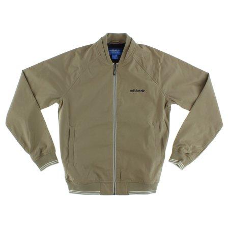 Adidas Mens Superstar Full Zip Woven Jacket Cargo Khaki S