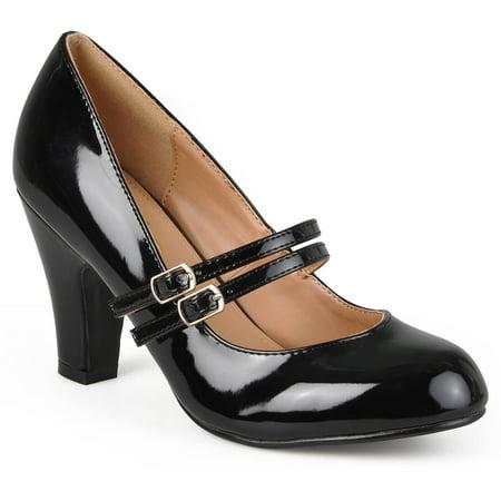 3b06e572876 Women s Medium and Wide Width Mary Jane Patent Leather Pumps - Walmart.com