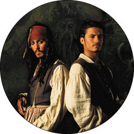 Jack Victor Two Button - Pirates of The Caribbean 2 Jack Will Button B-DIS-0383