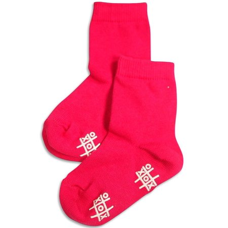 Tic Tac Toe - Big Girls Anklet Sock Fuchsia / XX-Large ()