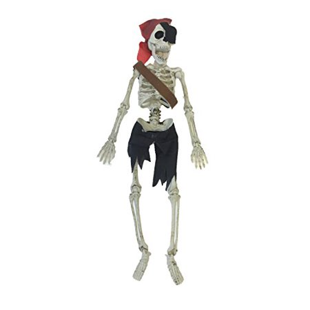 Hanging Mini Skeleton Pirate Decoration