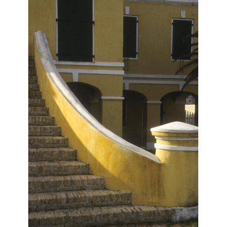 Customs House Exterior Stairway, Christiansted, St. Croix, US Virgin Islands Print Wall Art By Alison (Living In St Croix Us Virgin Islands)