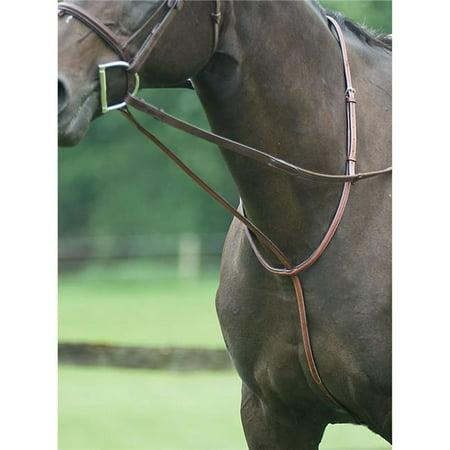Exselle AESM073P Pony Fancy Square Raised Standing Martingale, Medium Brown