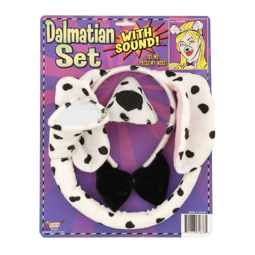 DALMATIAN COSTUME KIT WITH SOUND