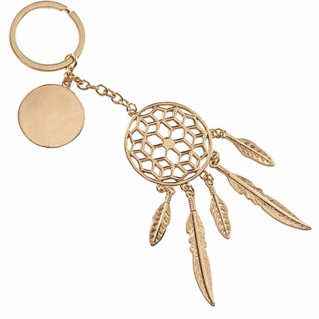 Gold Boho Dream Catcher Key Chain