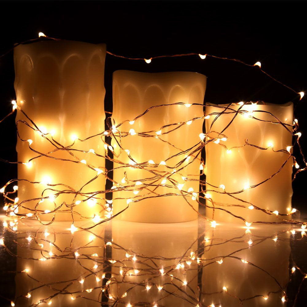 Kohree 8 Pack LED String Lights Copper Wire Lights Battery Operated ...