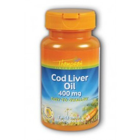 Cod liver oil high potency thompson 60 tabs for Cod fish walmart