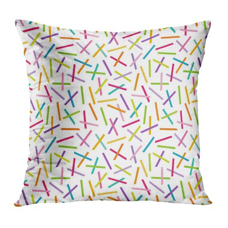ECCOT Purple Fun Cute Geometric in Bright Colors Pick Up Sticks Straight Lines Pattern for and Green Hipster Pillow Case Pillow Cover 18x18 inch](Ginger Pick Up Lines)