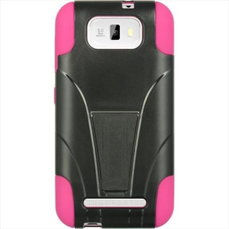 DreamWireless HESCRSTDBLU55HPBK Blu Studio 5.5 Standed Hot Pink Skin Plus Black Rubber Case