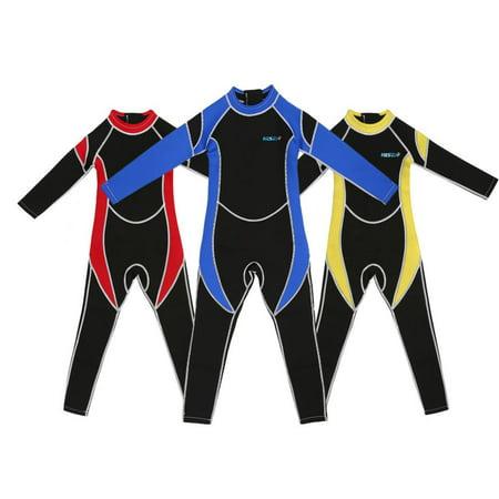 HERCHR Kids Neoprene Scuba One-piece Diving Snorkeling Wet Suit Long Sleeve Surfing Swimwear,One-piece Diving Suit, Kids Diving Swimwear, Children Swimwear