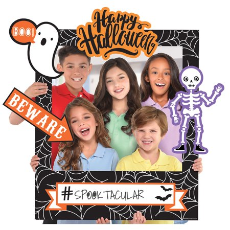 Giant Customizable Halloween Photo Frame Kit, 30 by 35 Inches with 14 Cutouts - Best Halloween Photos