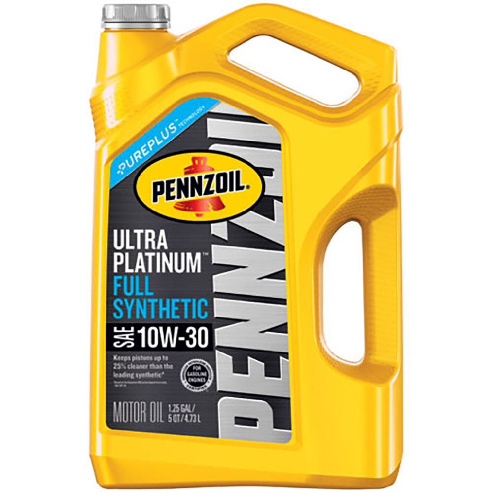 Pennzoil Ultra Platinum 10W-30 Full Synthetic Motor Oil, 5 qt