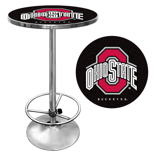 "Trademark NCAA The Ohio State University 42"" Pub Table, Black/Chrome"