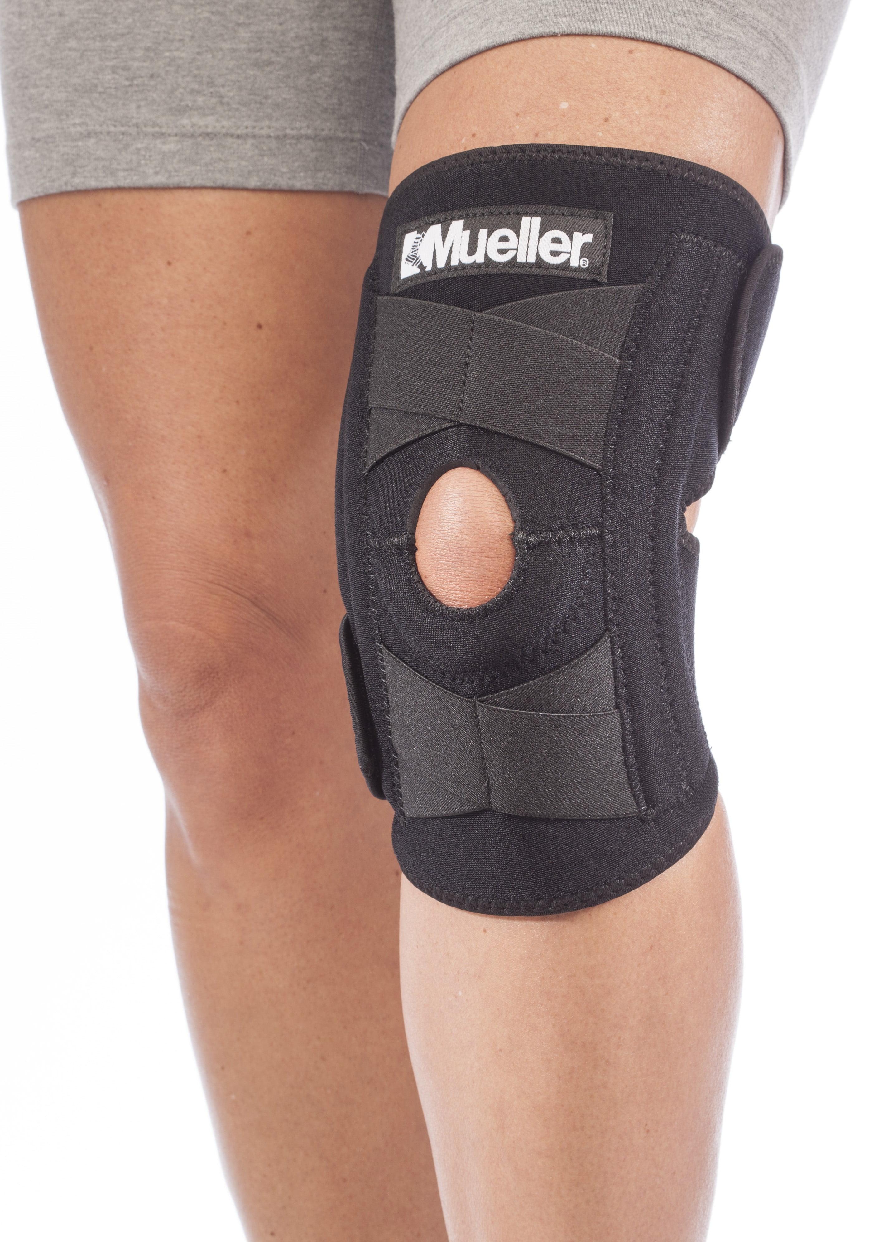 bd30d31e02 Mueller Self Adjusting Knee Stabilizer, Black, One Size Fits Most ...