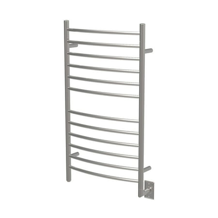 Amba Radiant Hardwired Curved 10 Bar Electric Bathroom Towel Warmer,