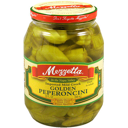 Mezzetta Mild Golden Pepperoncini, 32 oz (Pack of 6)