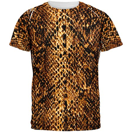 Halloween Desert Brown Snake Snakeskin Costume All Over Mens T Shirt](Snake Costume)