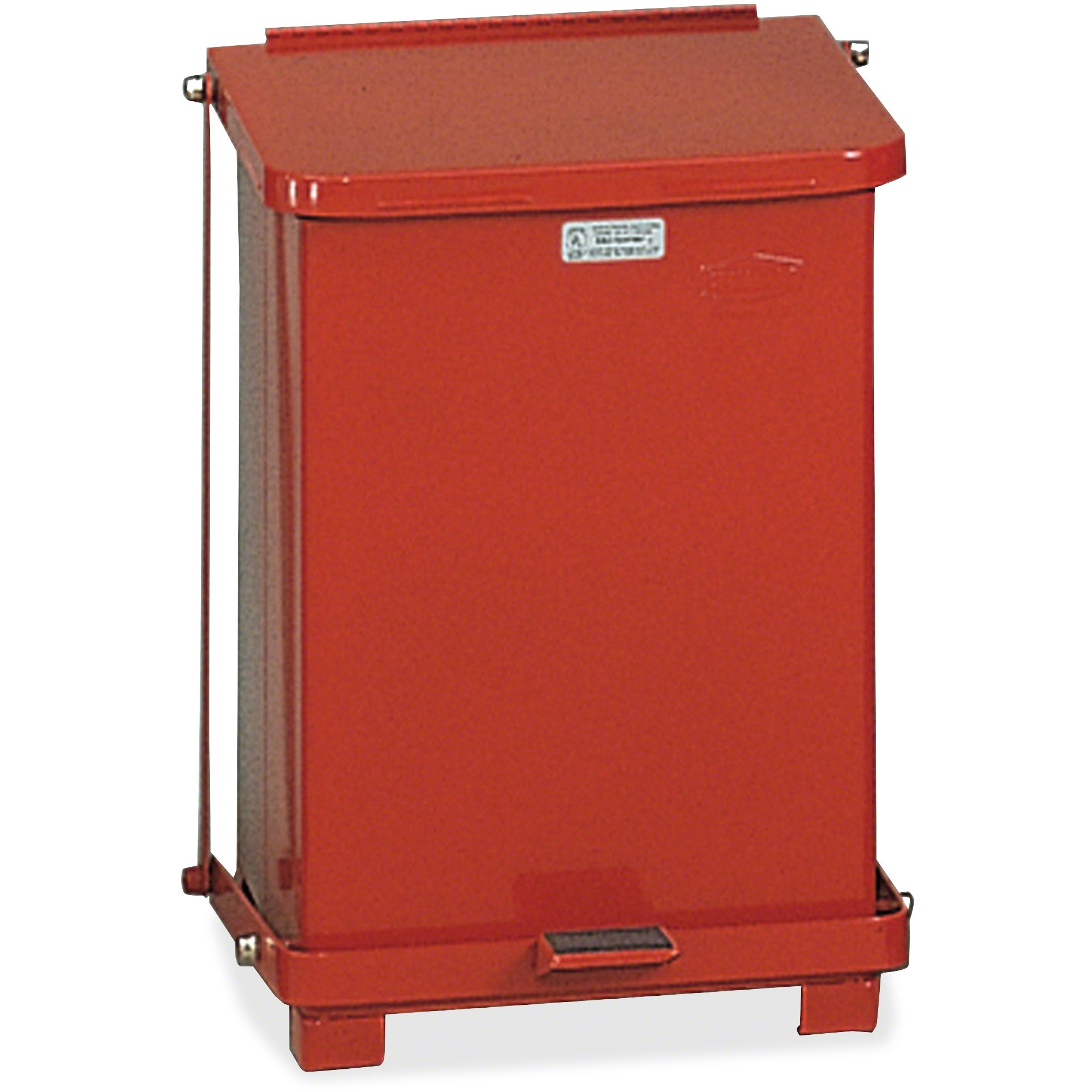Rubbermaid Commercial, RCPST7ERDPL, Defenders Medical Waste Step Can, 1, Red