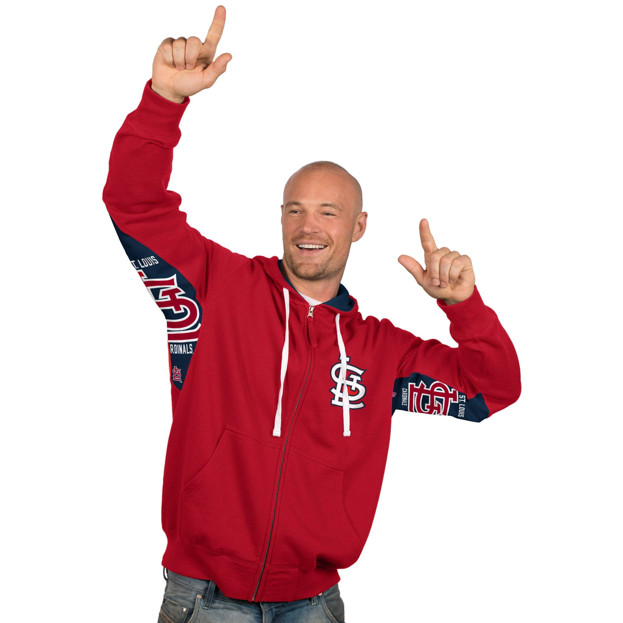 St. Louis Cardinals Hands High Full Zip Hoodie - Red
