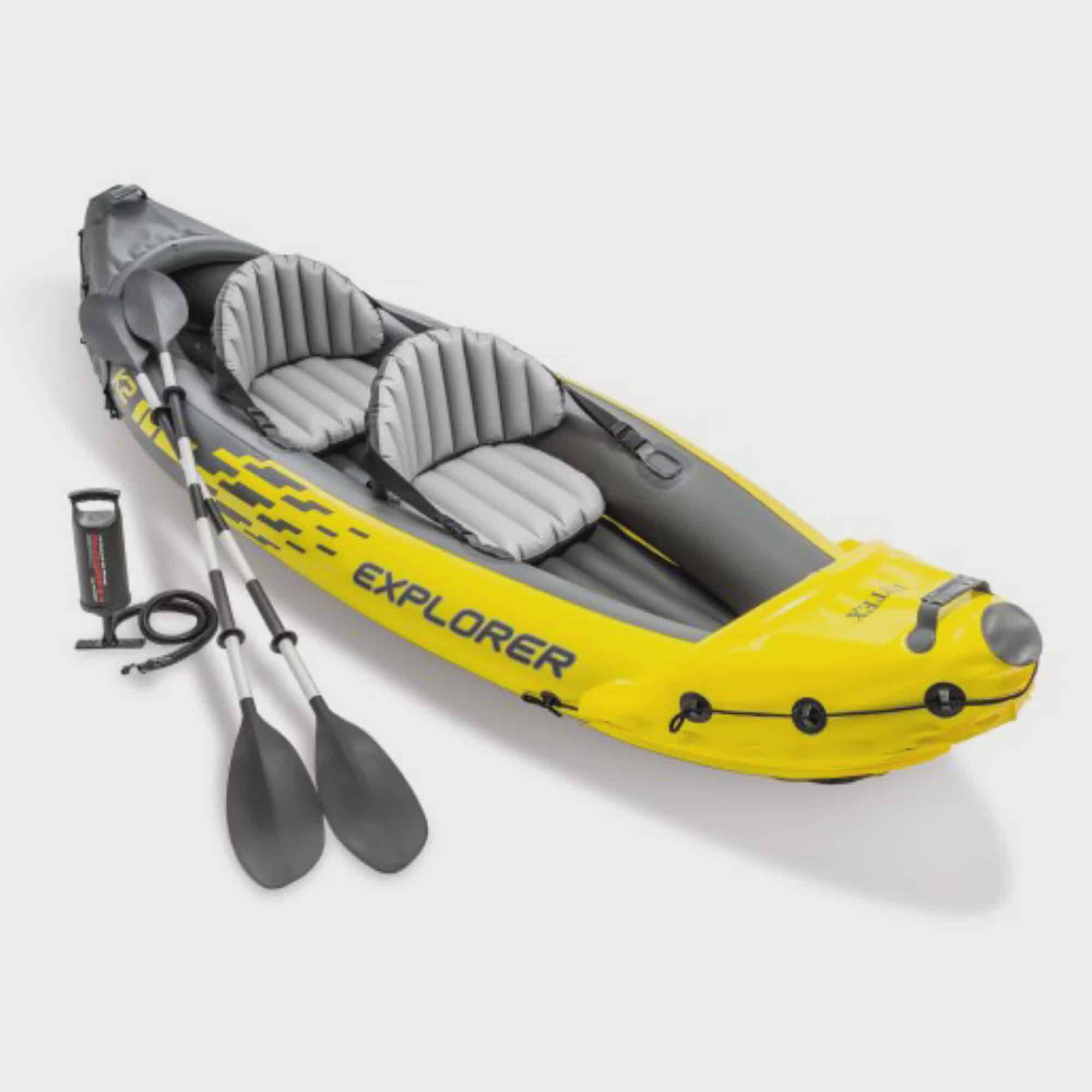 Intex Explorer K2 Inflatable Kayak with Oars and Hand Pump by Intex