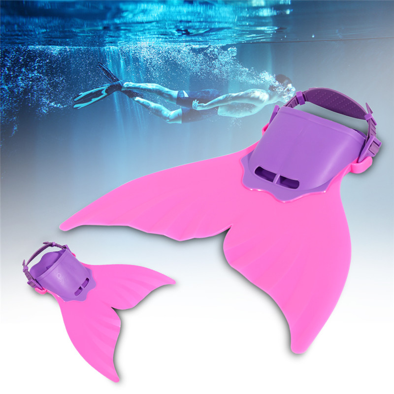 Adjustable Mermaid Tail Fin Shallow dives Mermaids Monofin Swimmable Tail