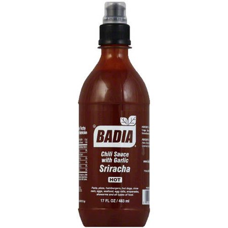 Badia Hot Sriracha Chili Sauce with Garlic, 17 fl oz, (Pack of 6)](Chili Hat)