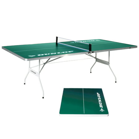 DUNLOP EZ-Fold Indoor-Outdoor Table Tennis Table, 100% Pre-assembled, 96-inch size ()