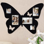 Adeco Trading 5 Opening Decorative Butterfly Wall Hanging Collage Picture Frame
