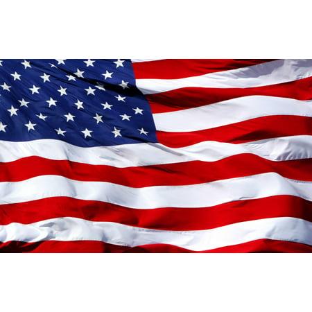 American Flag Waving Country Flag Birthday Edible Icing Image for 1/4 sheet cake