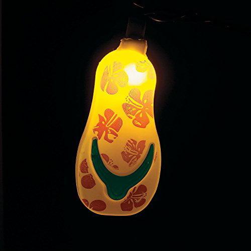 Fun Express Plastic Flip Flop Party String Lights Beach Luau - 1 Piece