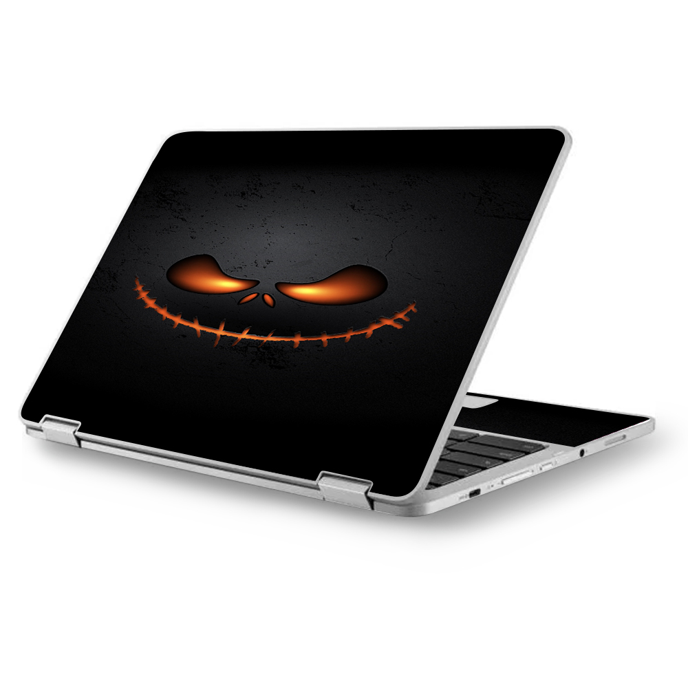 """Skins Decals for MacBook Air 11"""" A1370 A1465 / Wicked Pumpkin"""