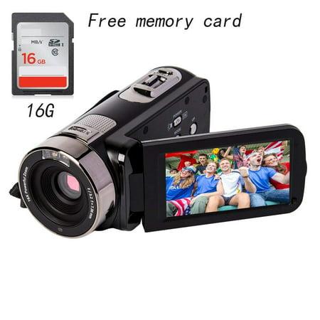 Valentine s Day gift Camcorder full HD 1080P 24MP 16X Digital Zoom Infrared night Video Camcorders with 270 De (Camara De Video Nueva)