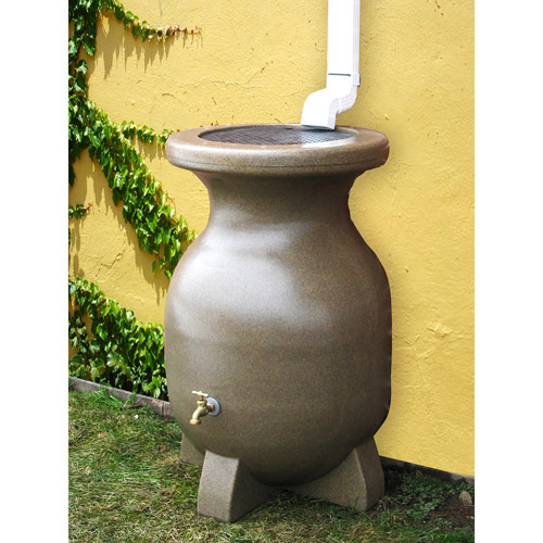 Kyoto 55 Gallon Sand-Stone-Look Rain Barrel