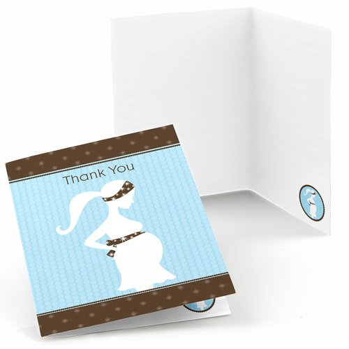 Mommy To Be Silhouette It S A Boy Baby Shower Thank You Cards 8