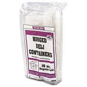 Genpak AD16 Clear Hinged Deli Container, 16oz, 5 3/8 x 4 1/2 x 2 5/8, 100/Bag, 2 Bags/Carton