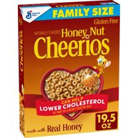 Honey Nut Cheerios, Oats Cereal, Gluten Free, 19.5 oz